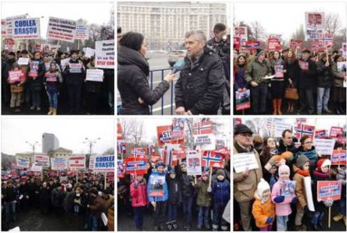 Protest #BODNARIU Bucharest 9 January 2016